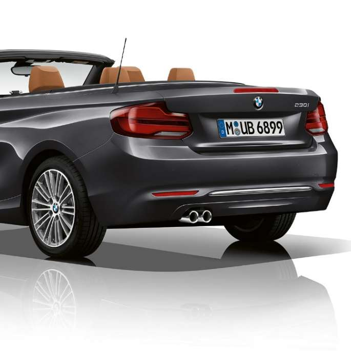 BMW 2 Series Convertible, Model Luxury Line three-quarter rear shot