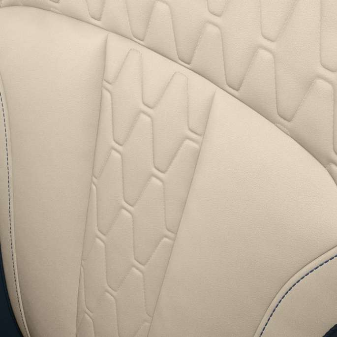 Close-up of the polster design of the BMW X7 with Design Pure Excellence features